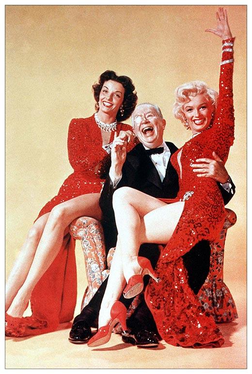 Хардпостер (на твёрдой основе) Gentlemen Prefer Blondes / Джентльмены предпочитают блондинок